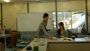 秘書検定講座/陸前高田市にて(お茶の淹れ方・出し方)